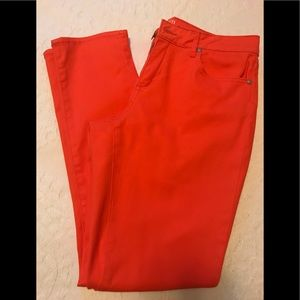 Crown and Ivy orange jeans